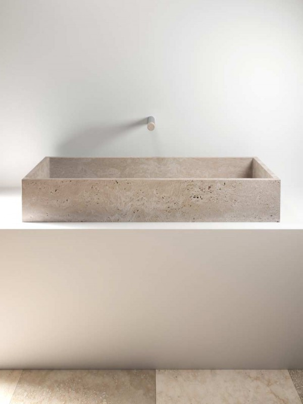 stone wash basin - lavabo in pietra | Pientia 1220 | Vaselli