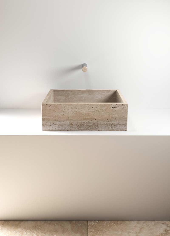 stone wash basin - lavabo in pietra | Pientia 620 | Vaselli