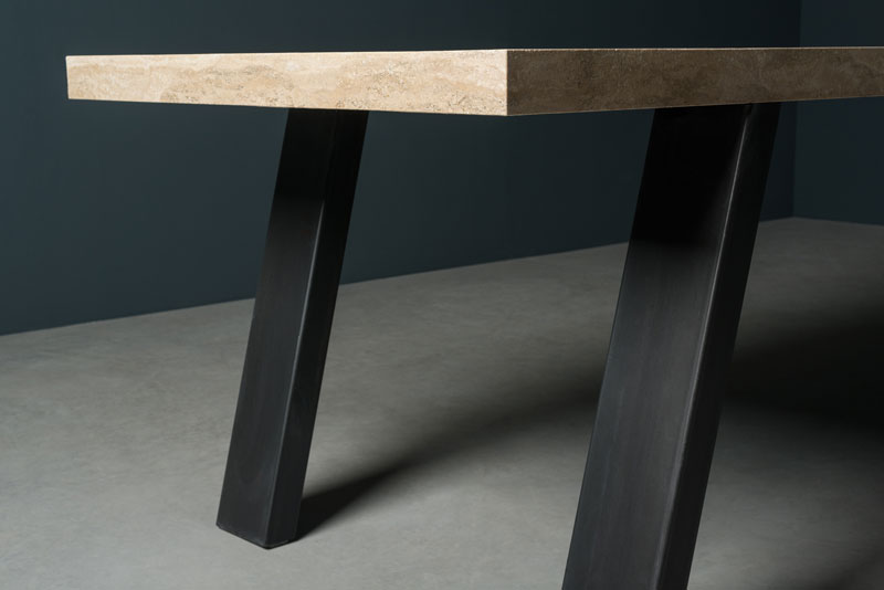 iron and stone table - tavolo in pietra e ferro | T. SIDER | Vaselli