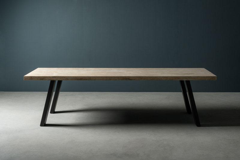 iron and stone table - tavolo in pietra e ferro   T. SIDER   Vaselli