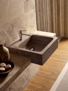 Square 50   Lavabo a semi incasso - Semi-recesed wash basin   Vaselli