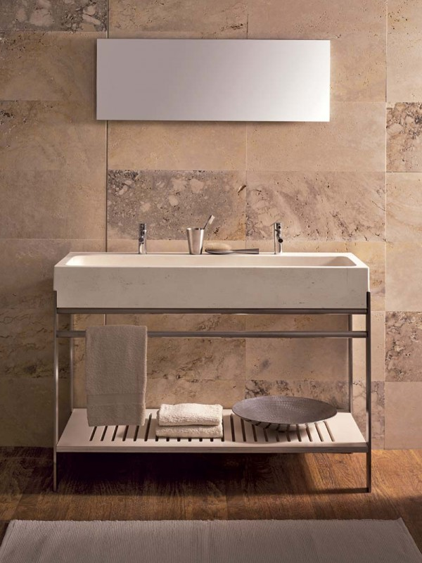 Semi-recessed washbasin | Stream | Vaselli