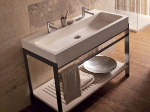 Semi-recessed washbasin | Stream | Vaselli