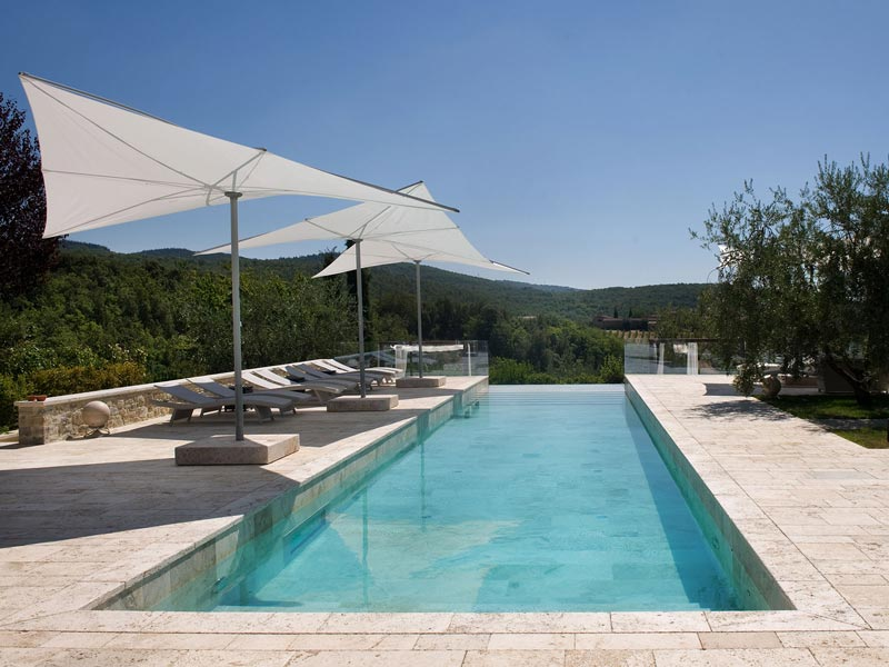 travertine swimming pool