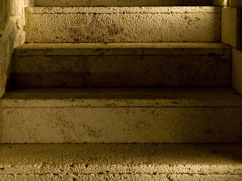 travertine stair