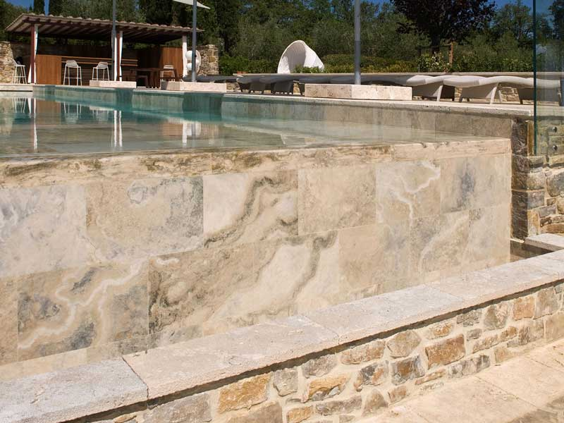 travertine swimming pool