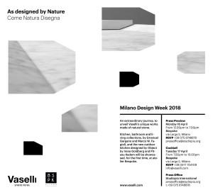 Milan Design Week - Vaselli events
