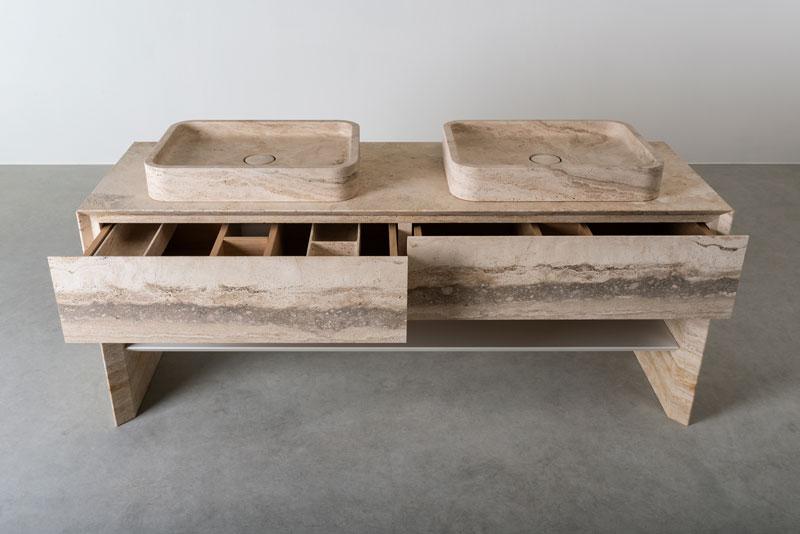 mobile bagno a terra - mobile bagno doppio lavabo | free standing bathroom vanity - double vanity | Vaselli