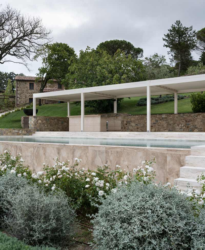 natural stone pool - piscina in pietra naturale | San Casciano | Vaselli