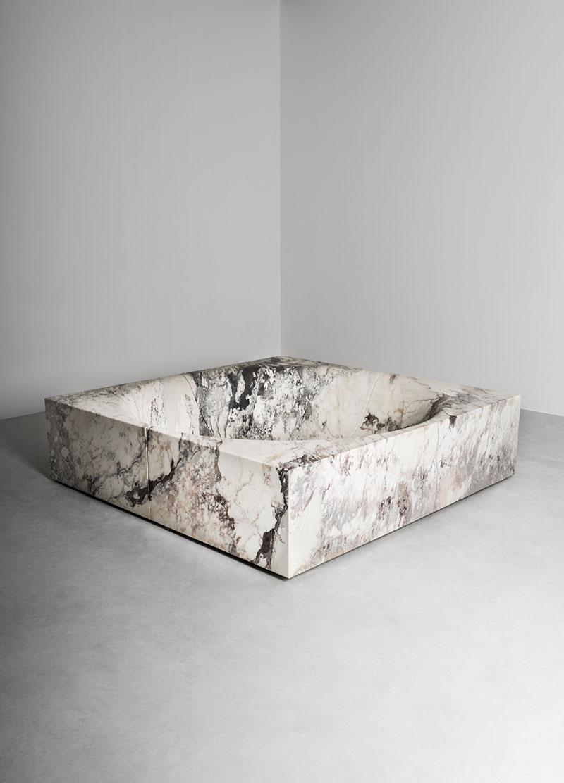 square bathtub - vasca quadrata | stone mini pool - minipiscina in pietra | Pozze | Vaselli