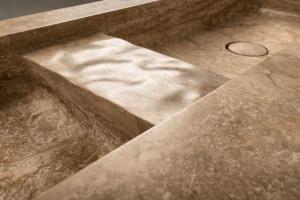 stone sink detail - dettaglio lavabo in pietra | Tortu World Netherlands- olanda | Vaselli