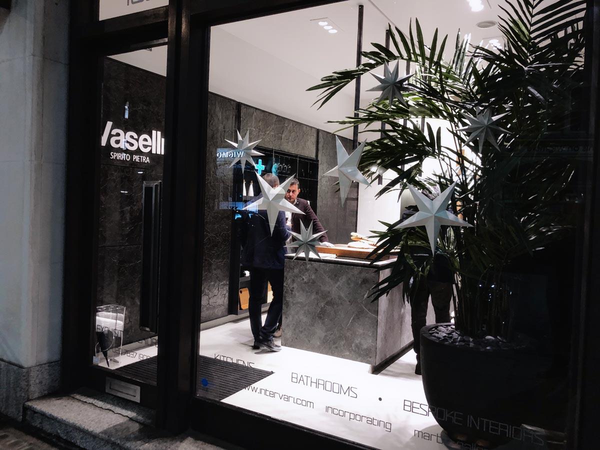 vaselli stone kitchen at intervari - london