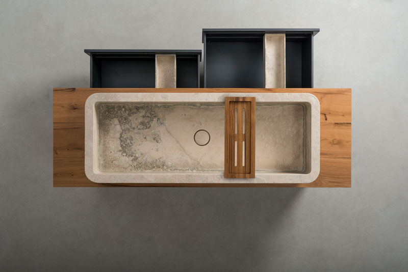Terrra | linea mobili bagno - bathroom vanities line | legno e ferro - wood and iron | Vaselli