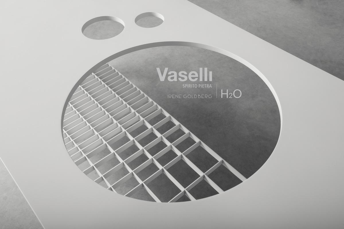 H2O - nuova collezione bagno in pietra e metallo - new stone and metal bathtoom collection | Vaselli