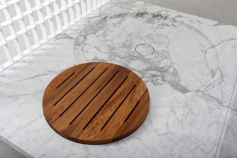 H2O | stone and metal shower tray - piatto doccia in pietra e metallo | Vaselli