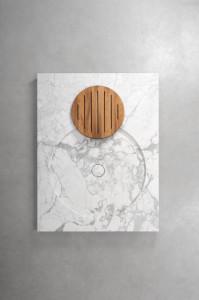 H2O   stone and metal shower tray - piatto doccia in pietra e metallo   Vaselli
