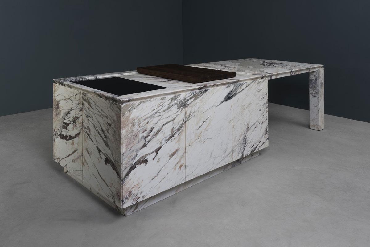 stone kitchen - cucina in pietra | marmo breccia capraia marble | Vaselli