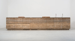 stone kitchen - cucina in pietra | travertino noce travertine | Vaselli