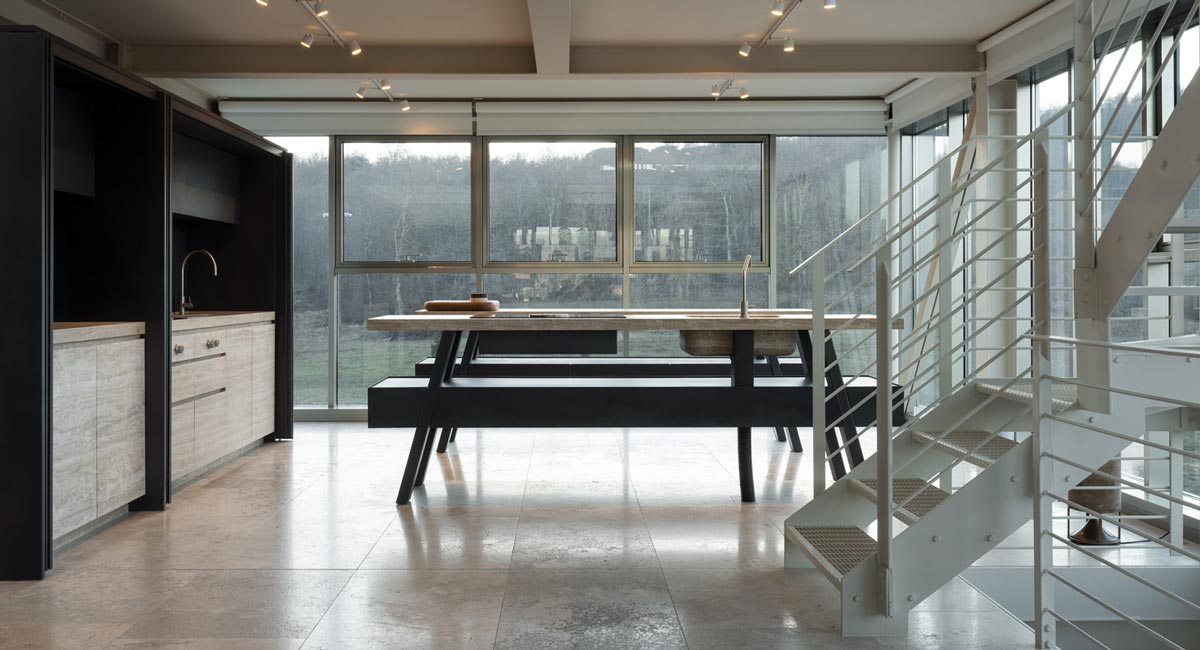 stone and metal kitchen - cucina in pietra e metallo | Vaselli