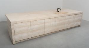 stone kitchen - cucina in pietra | white travertine - travertino bianco | Vaselli