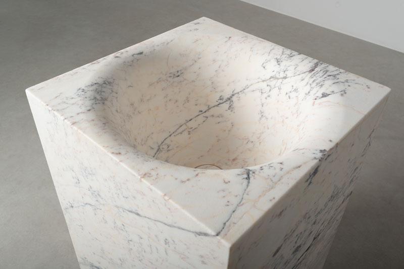 lavabo quadrato a colonna - free-standing square washbasin | Pozze | Vaselli
