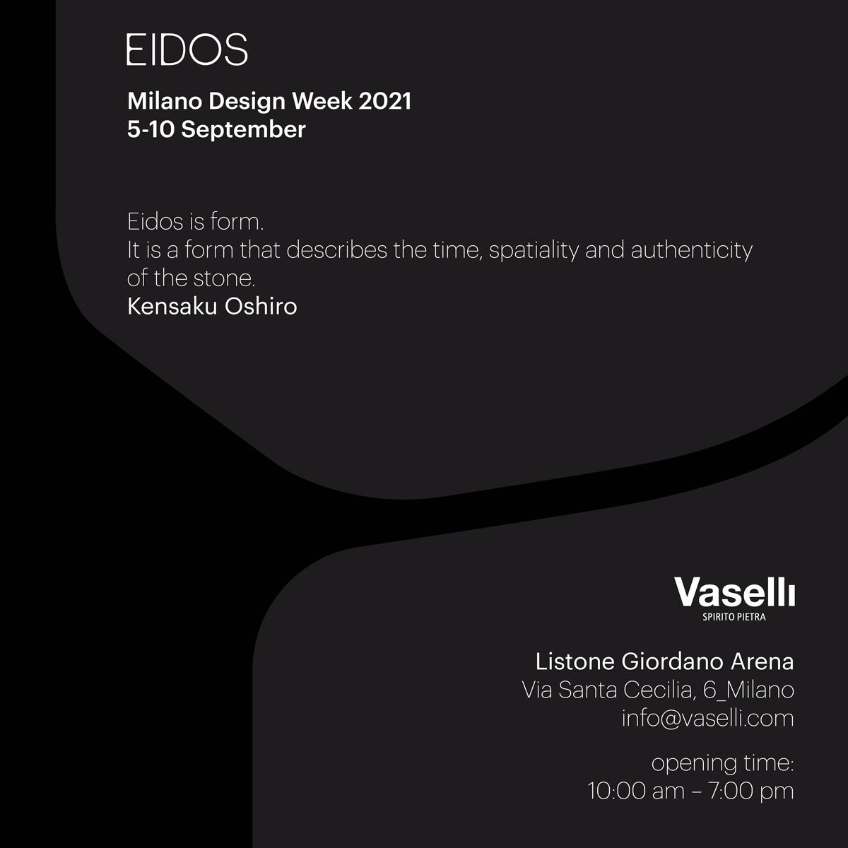 Save the Date | Milano Design Week 2021 | Vaselli